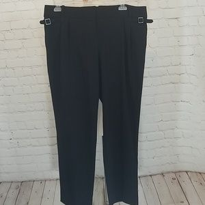 LOFT Pants - Loft tapered and pleated black slacks